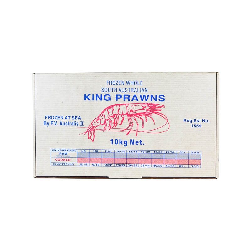 Waxed carton box for prawn