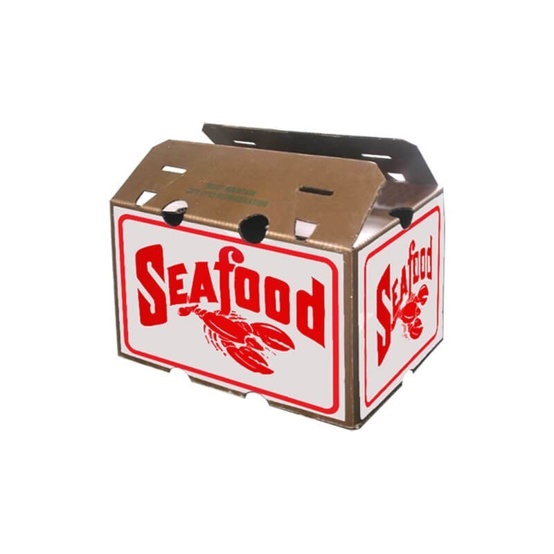 Waxed seafood packing box