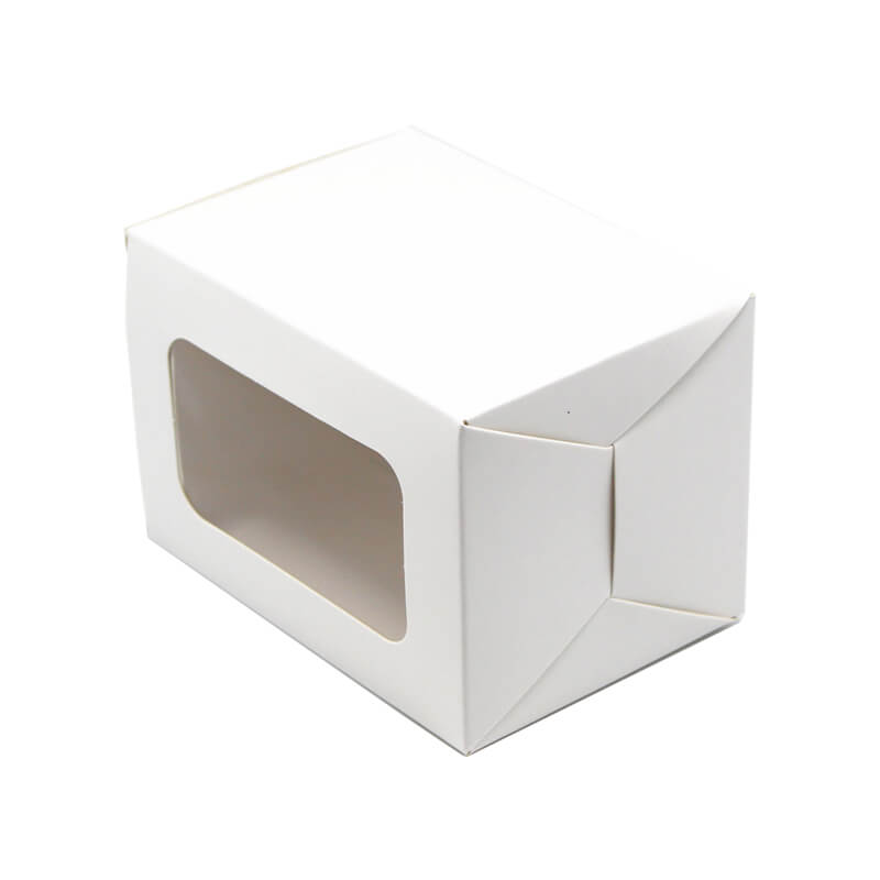 White Kraft Auto Bottom Box with Window