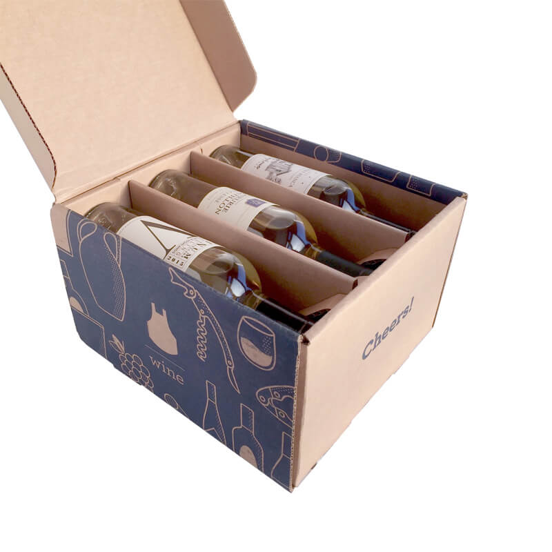 Wine Bottle mailer box shipping box