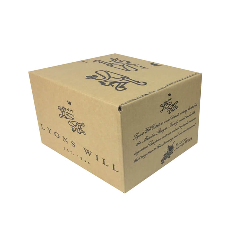 Wine shipping carton box