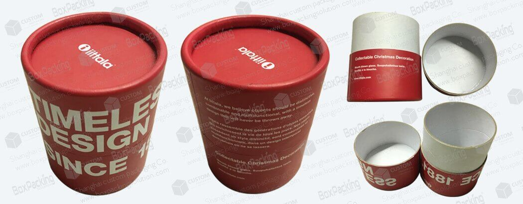 cardboard tubes with UV printing custom made