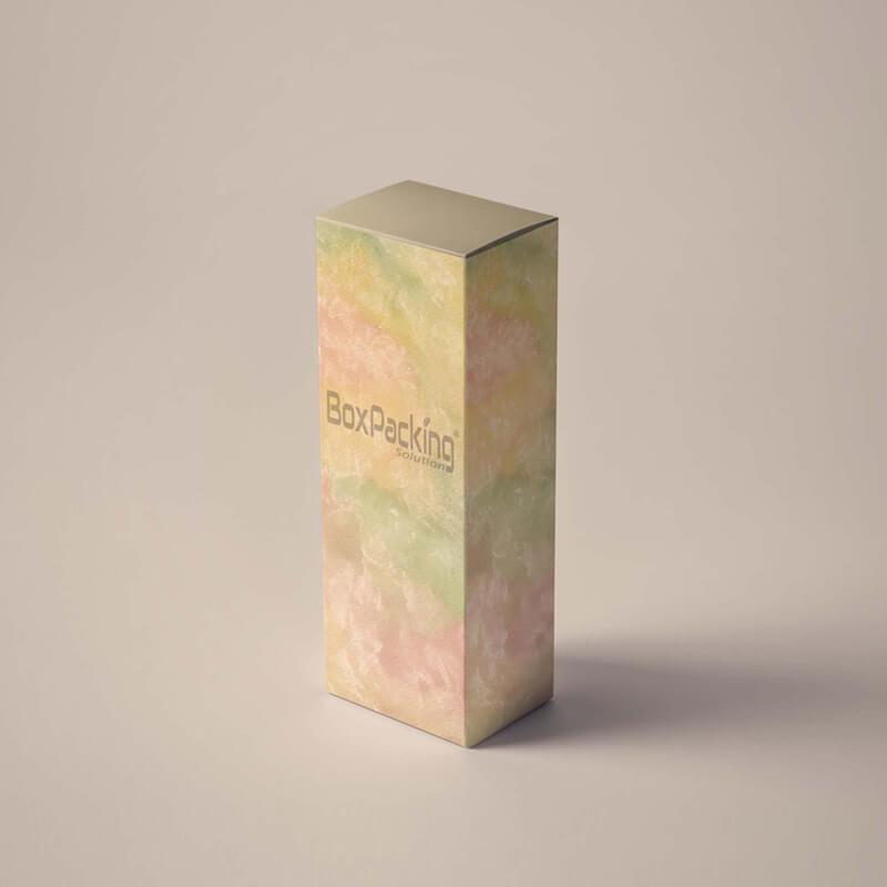 cosmetics paper box mock-up