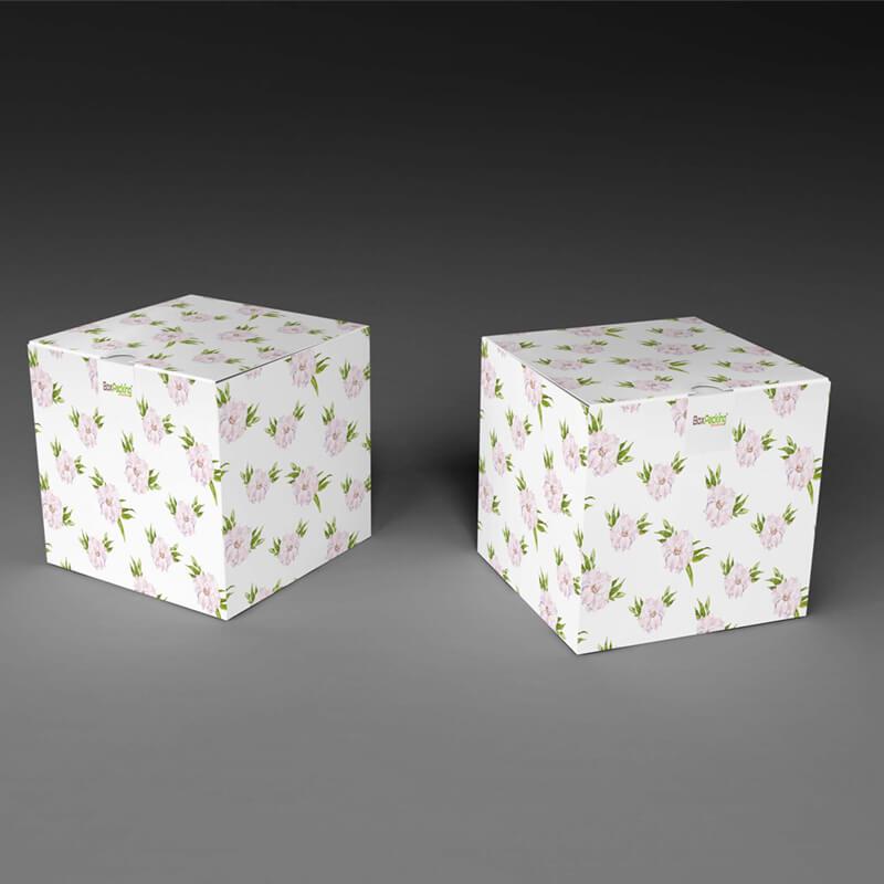 custom made snap bottom paper box mockup