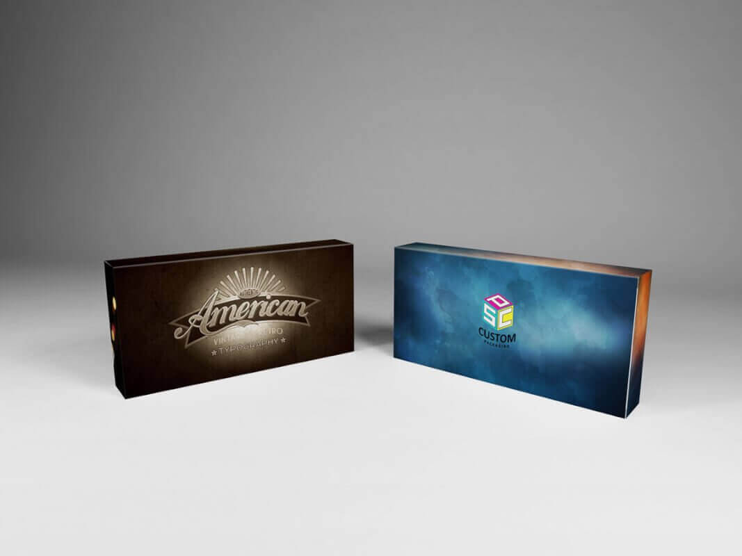 customized magnetic closure rigid box mock up