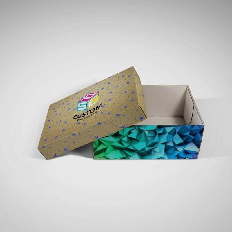 customized shoe packaging box corrugated box mock up 1