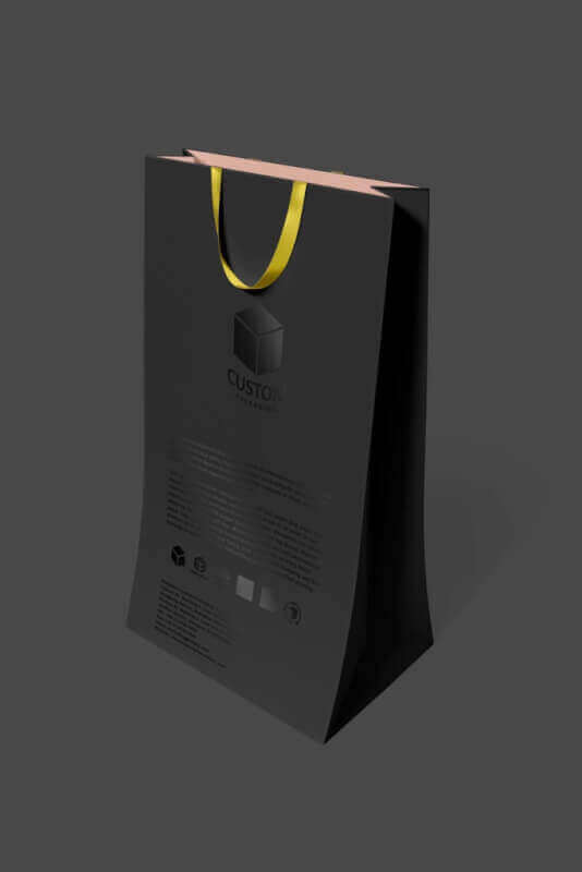 high quality customized shopping bags mock up