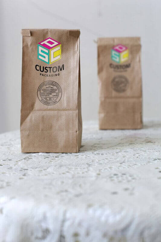 high quality paper bag customized made mock up