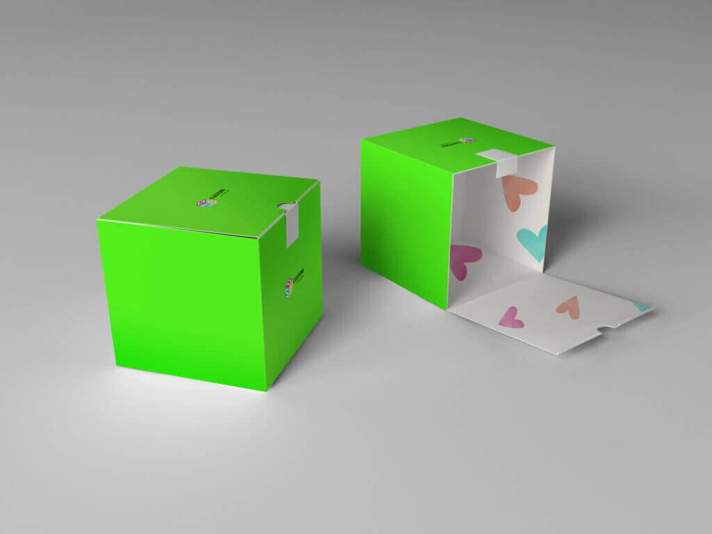 outside and inside printed color box