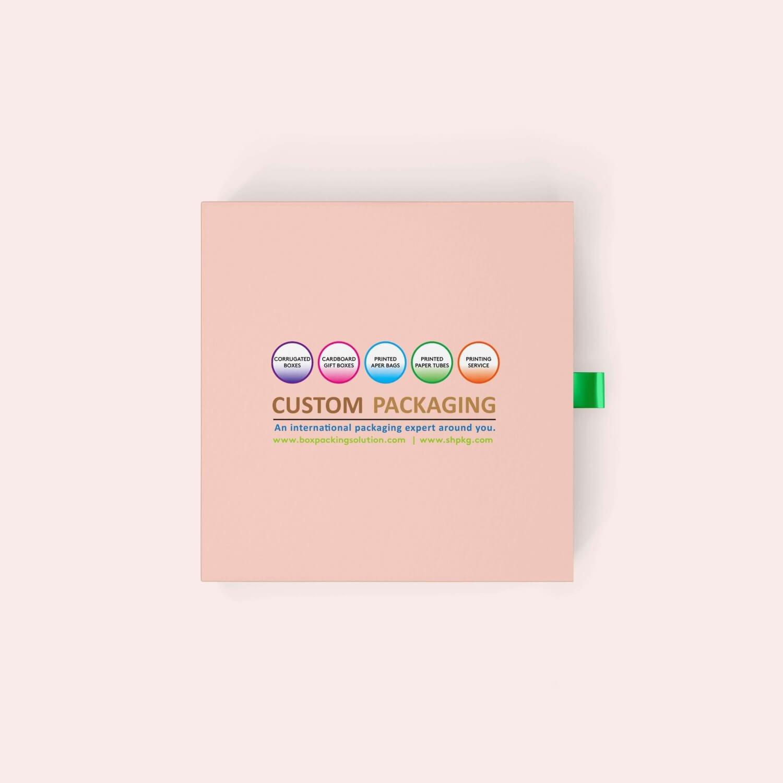 pink cardboard drawer box
