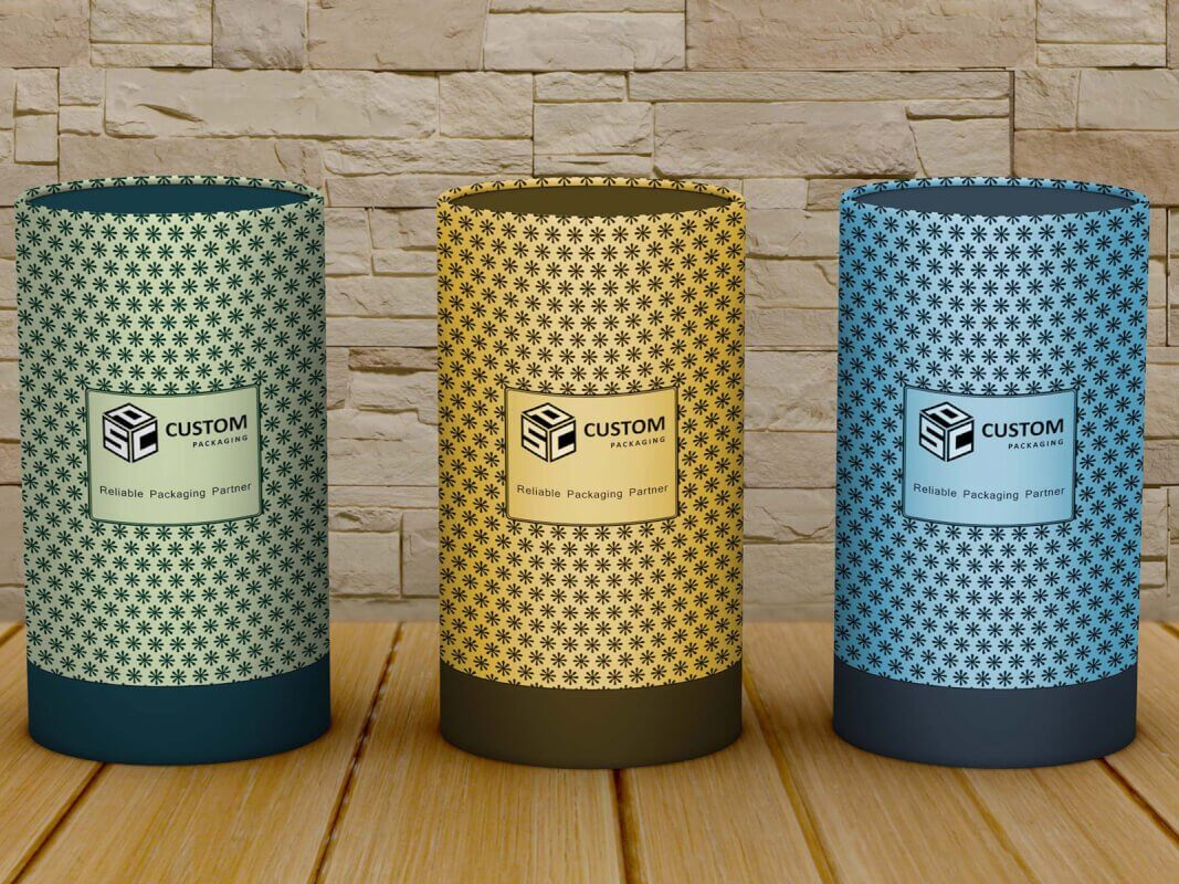qualified cardboard tube box mock up 2019