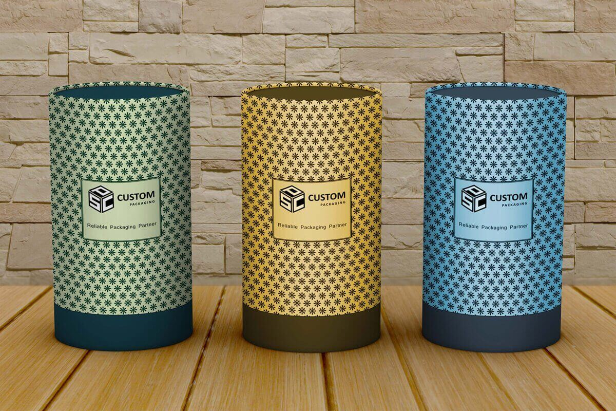 qualified cardboard tube box mock-up