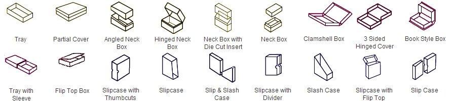 rigid set up box styles