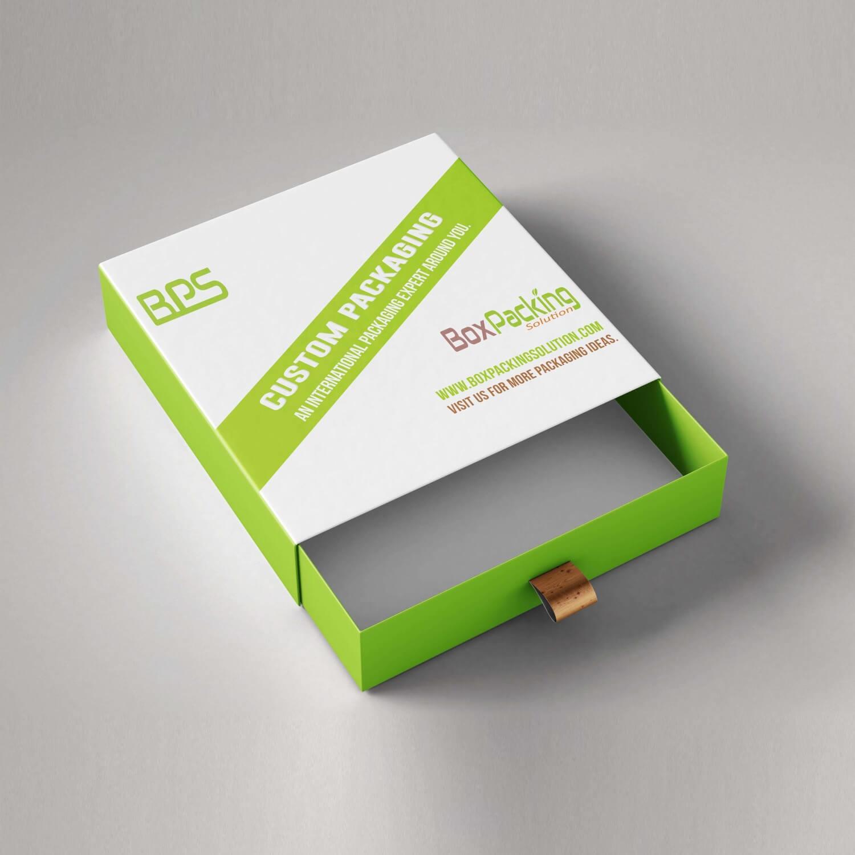 rigid slide drawer box personalised made