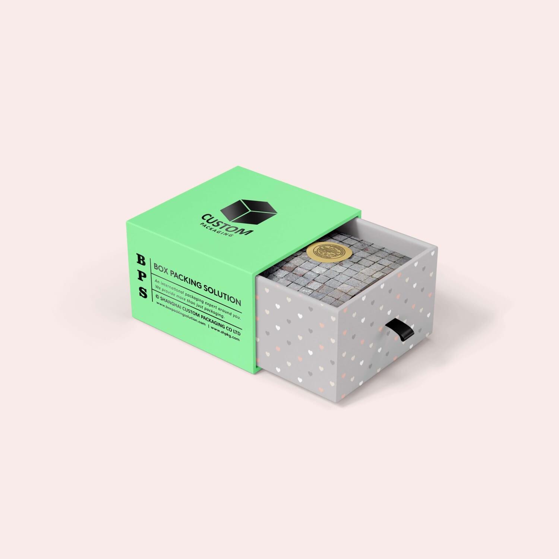 Mint color Cardboard Box