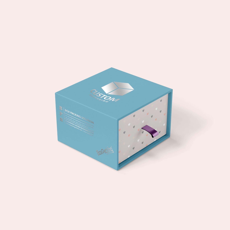 Silver Stamping cardboard drawer box