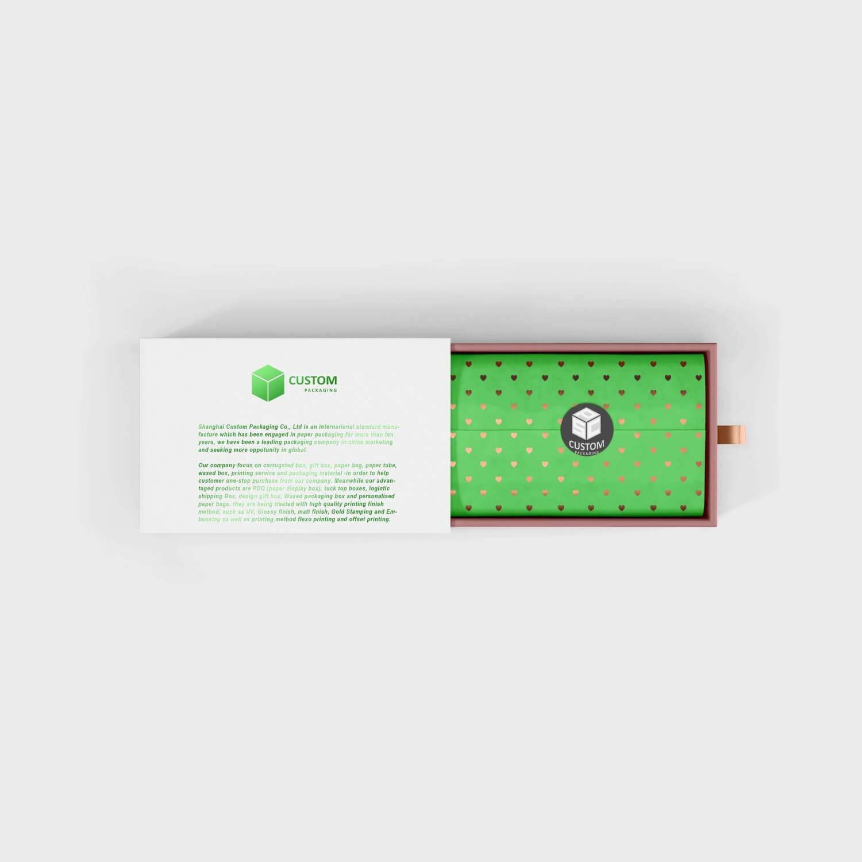 white green slide drawer box