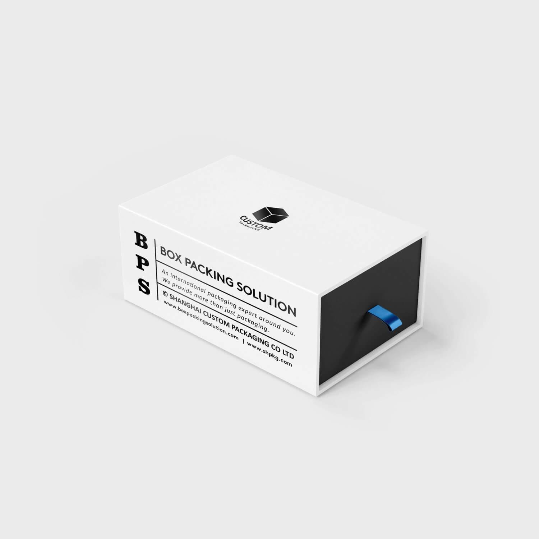 White black cardboard drawer box