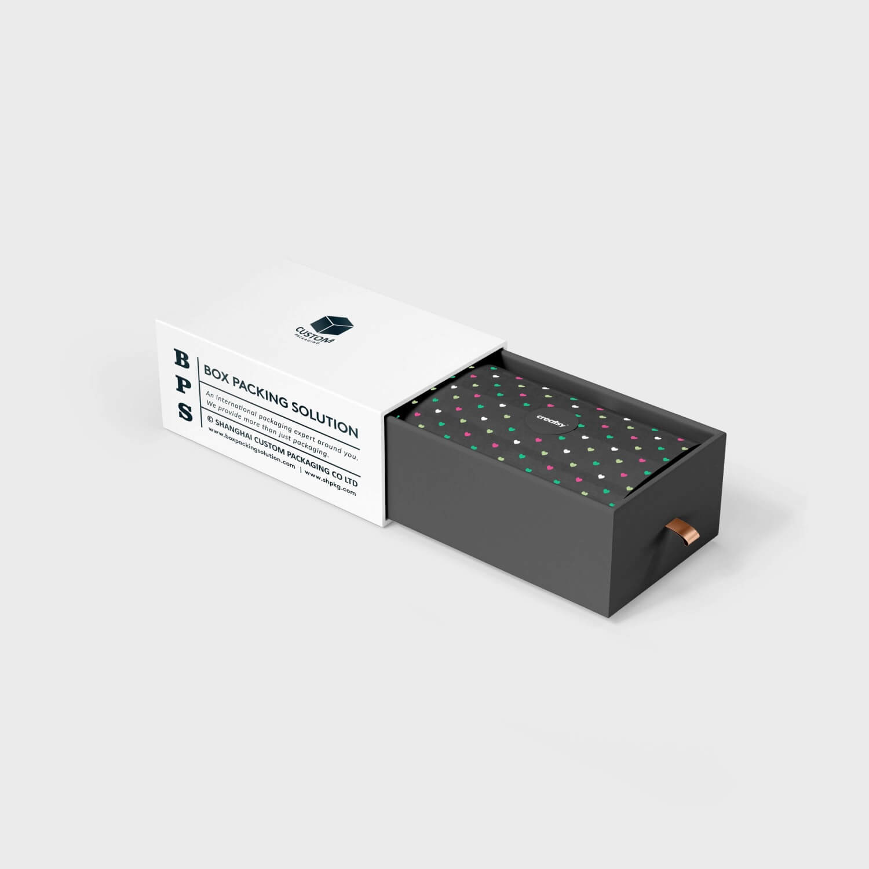 White black cardboard drawer boxes