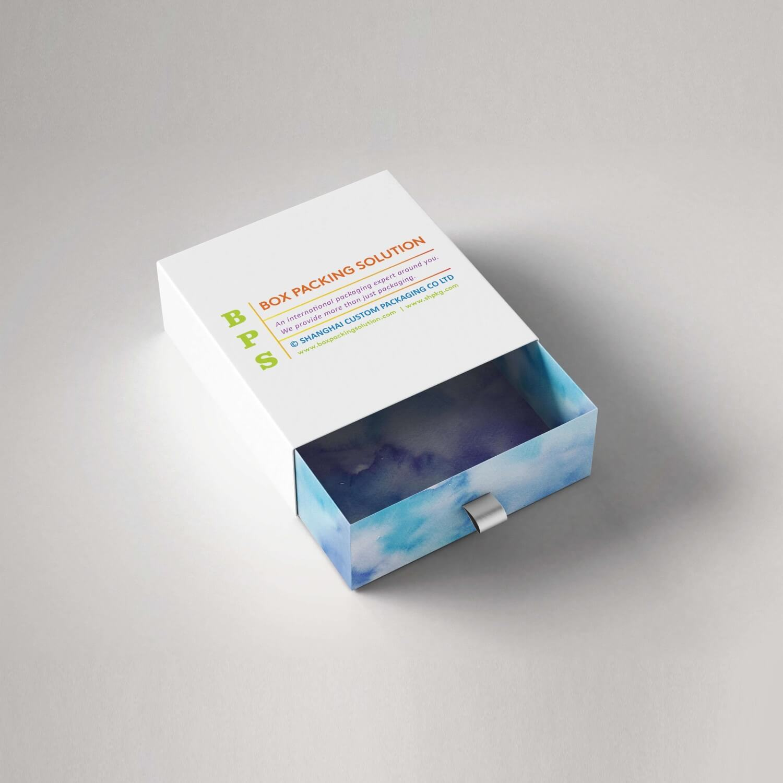full color printed cardboard drawer box