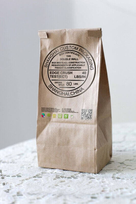 take away kraft bags mock up custom made