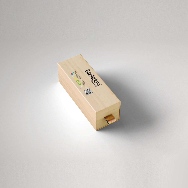 wooden color printed cardboard drawer box