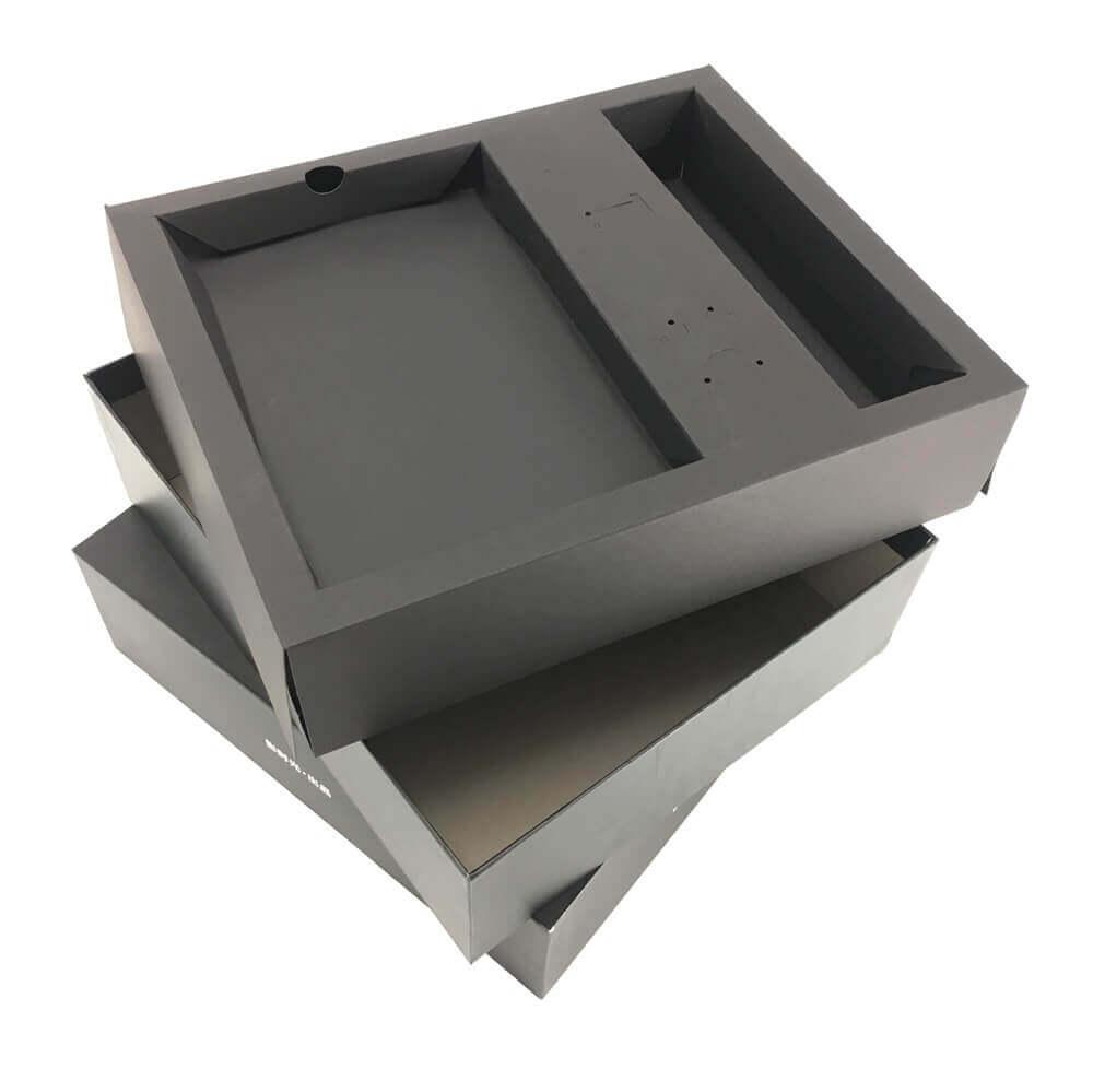 2 Pieces Black Rigid Setup Box Side View Three