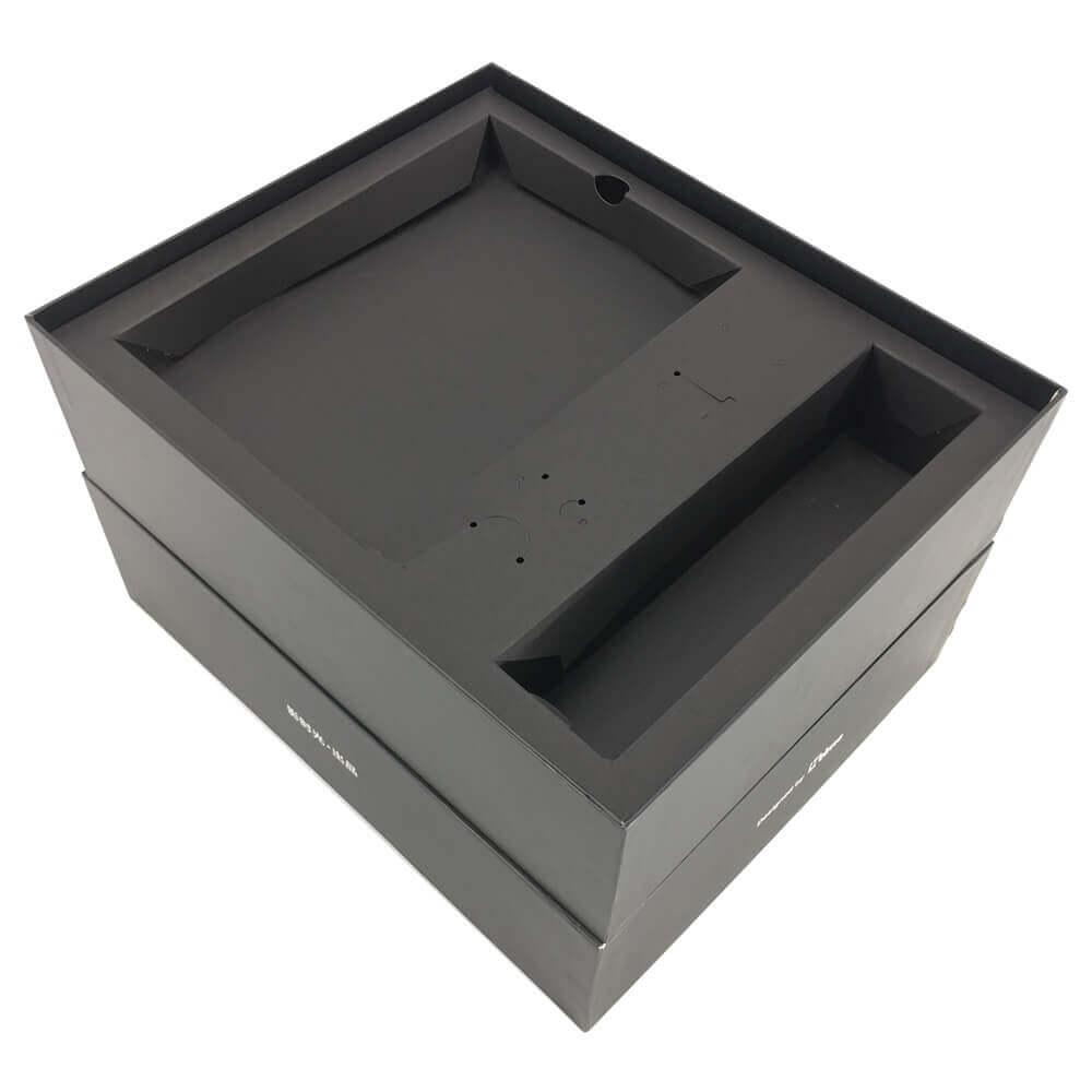 2 Pieces Black Rigid Setup Box Side View Two