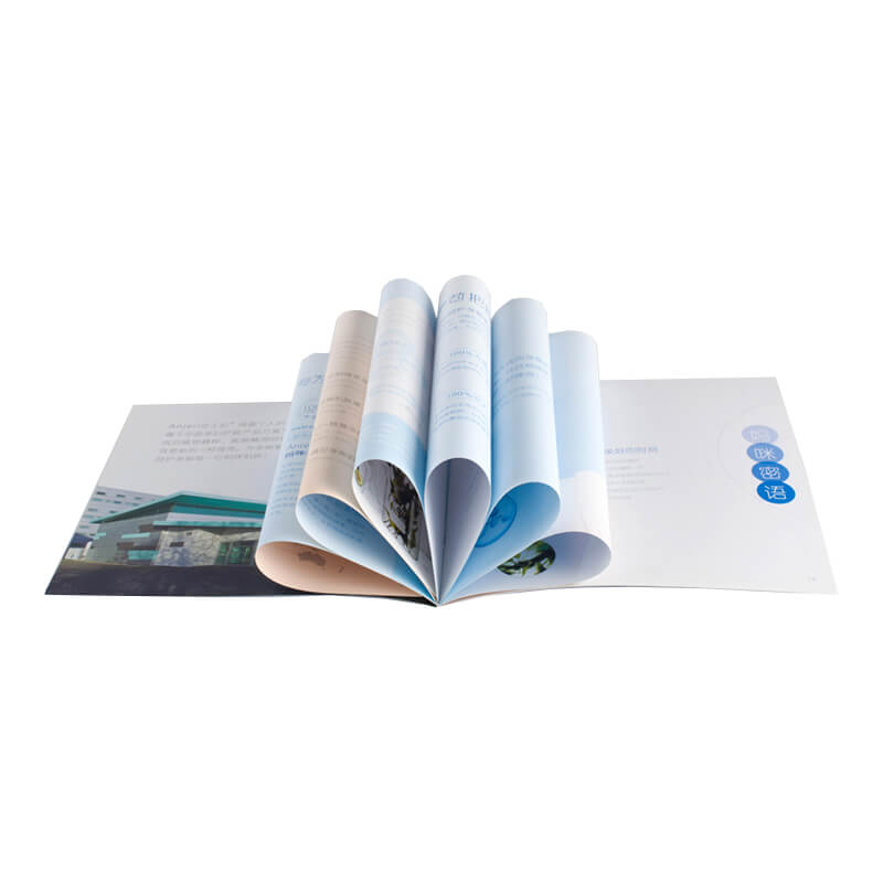 Brochure Made of Art Paper Weight 70~157 gsm