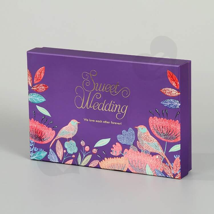 Beautiful Matte Color Gift Box For Wedding side view one