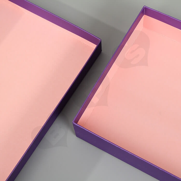 Beautiful Matte Color Gift Box For Wedding side view three