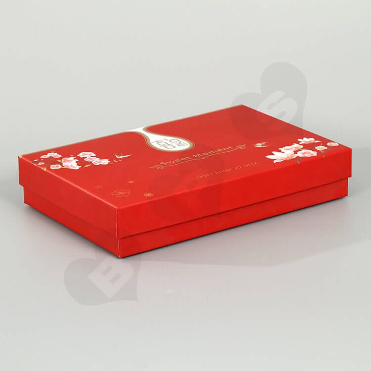 Beautiful Rigid Gift Box For Wedding Gift side view four
