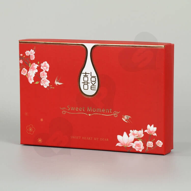 Beautiful Rigid Gift Box For Wedding Gift side view one