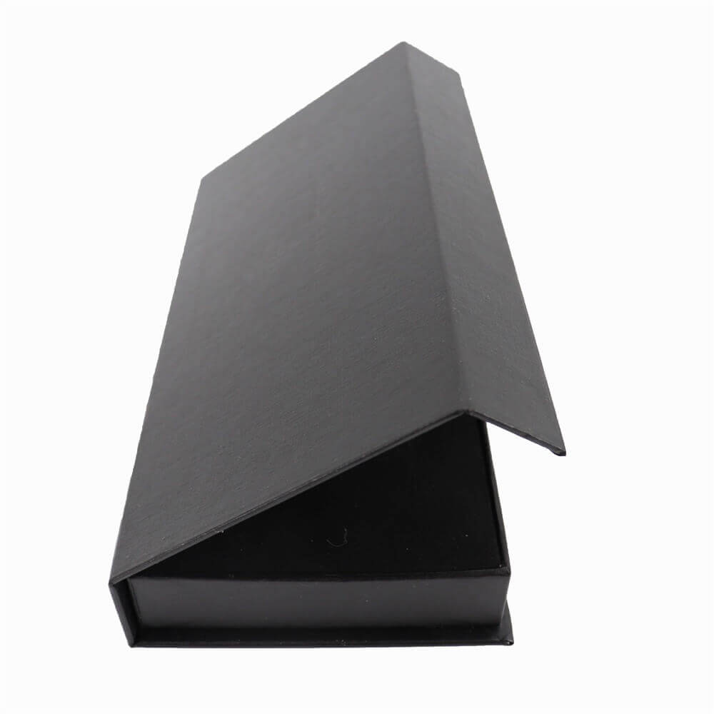 Black Perfume Bottle Packaging Box with Inserts side view two