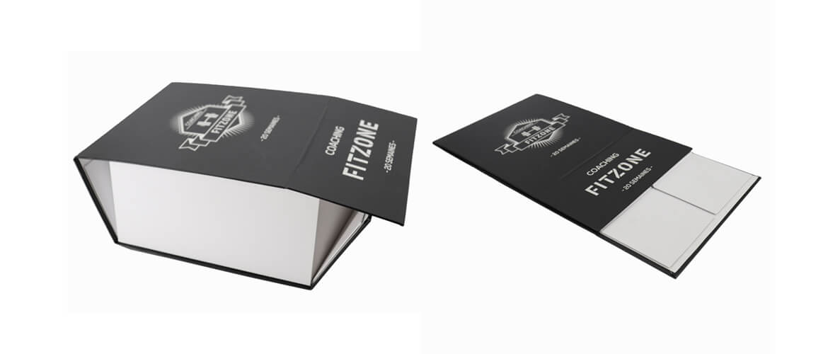 Black and white color collapsible rigid gift box