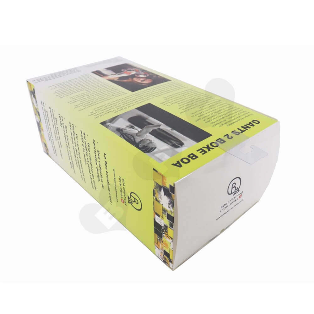Boxing Gloves Packaging Box Display with Hang Tab side view four