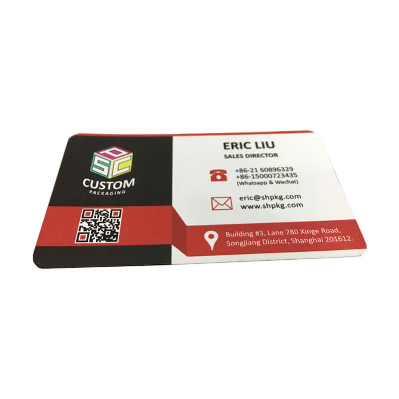 Business Card Made From Specialty Paper