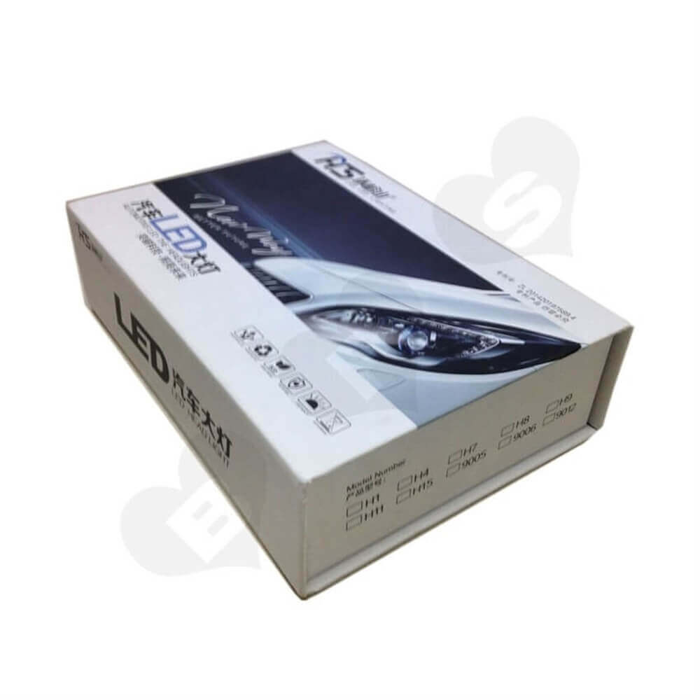 Car LED Light Rigid Packaging Box Sideview Five