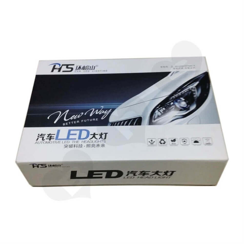 Car LED Light Rigid Packaging Box Sideview One