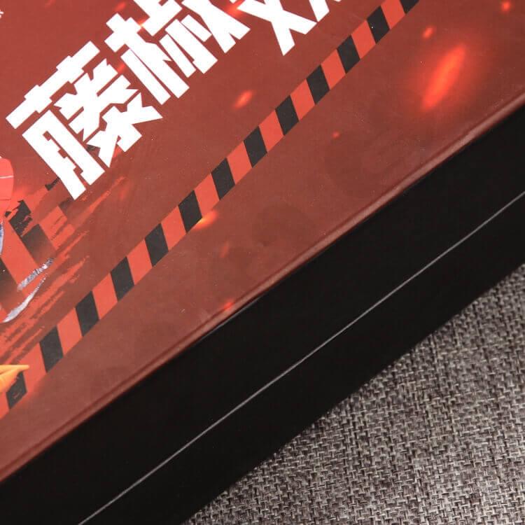 Cardboard Matte Black Rigid Box For Take Away Food side view five