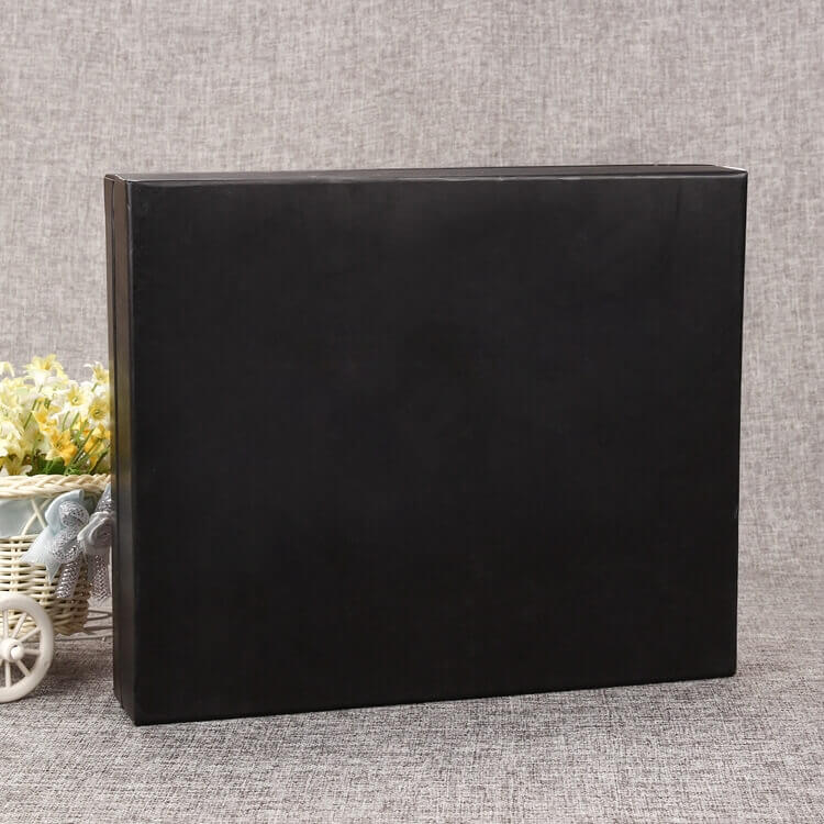 Cardboard Matte Black Rigid Box For Take Away Food side view four