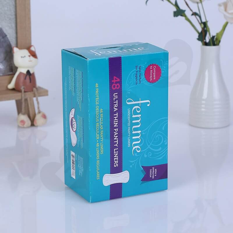 Cardboard Packing Box For Sanitary Napkins side view five