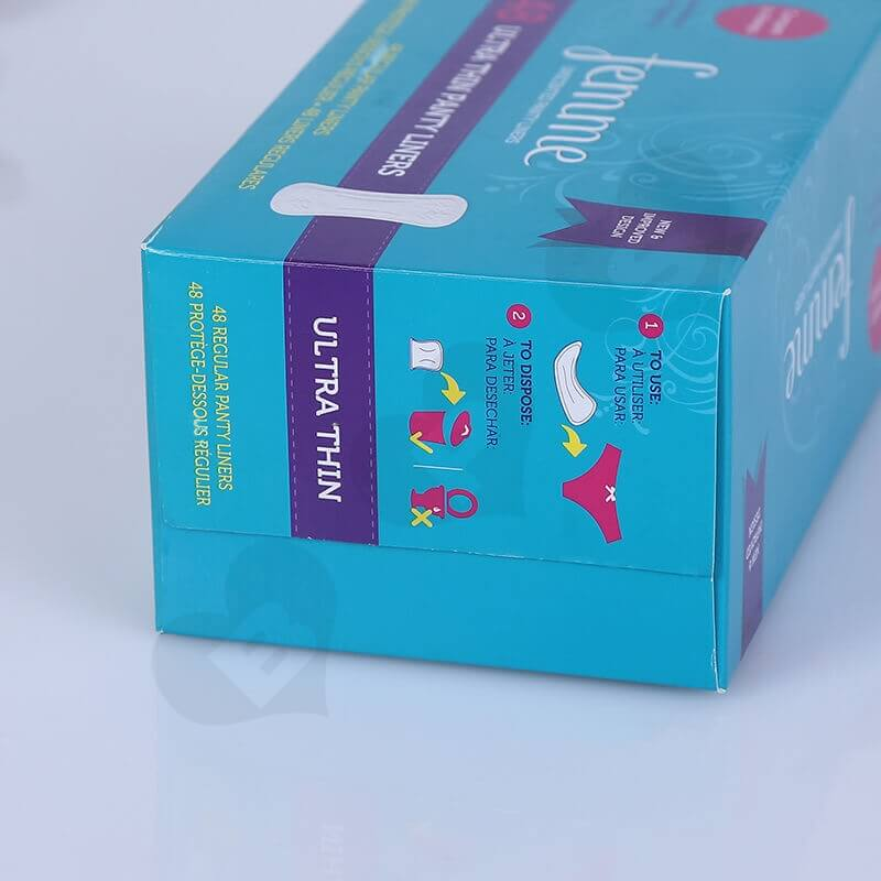 Cardboard Packing Box For Sanitary Napkins side view four