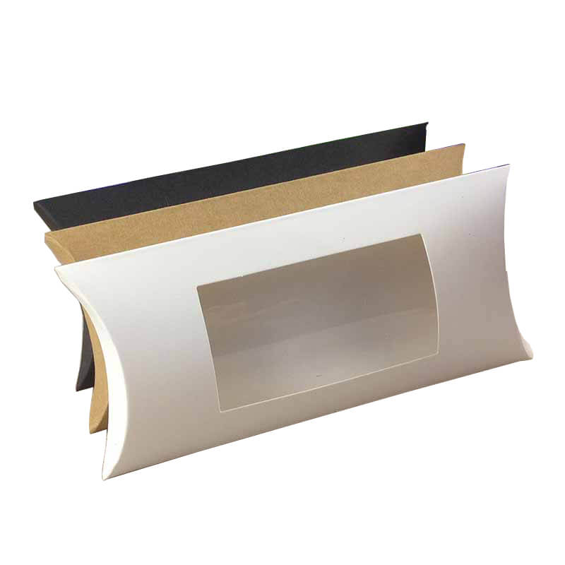 Cardboard Pillow Box with PVC Window