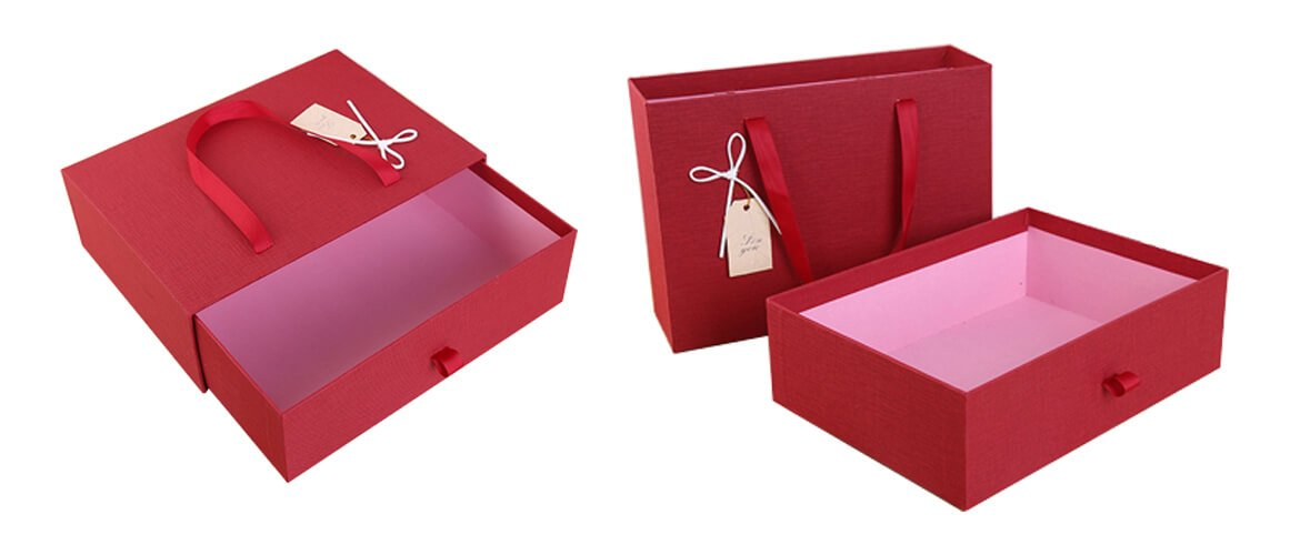 Cardboard drawer gift box for wedding gifts or candy