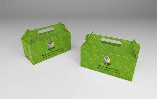 Cardboard gable top box carrier box Mock-up design service