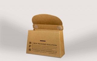 Cardboard gable top box mockup service