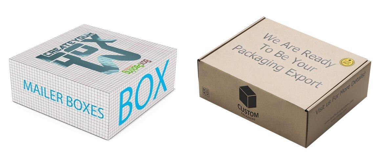 Cardboard mailer box mockup service