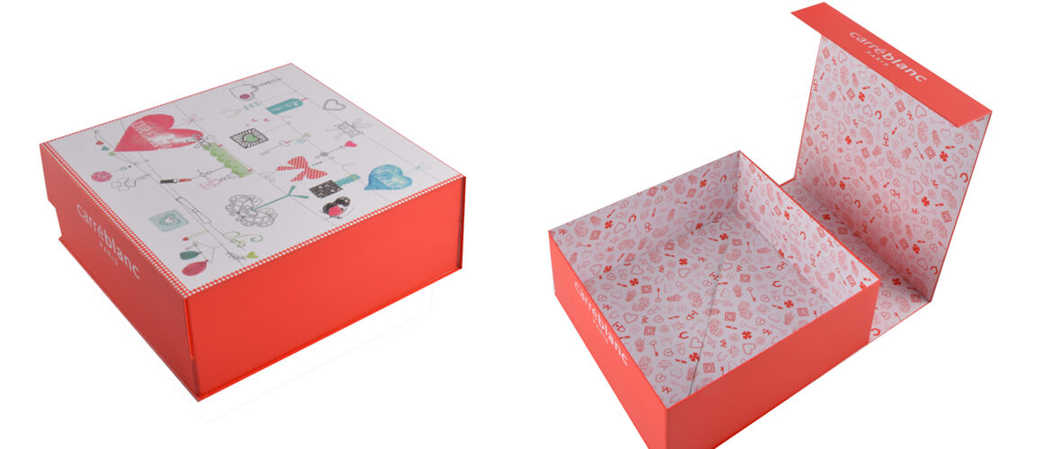 Clamshell Shape Magnetic Closure Box For Skincare Product