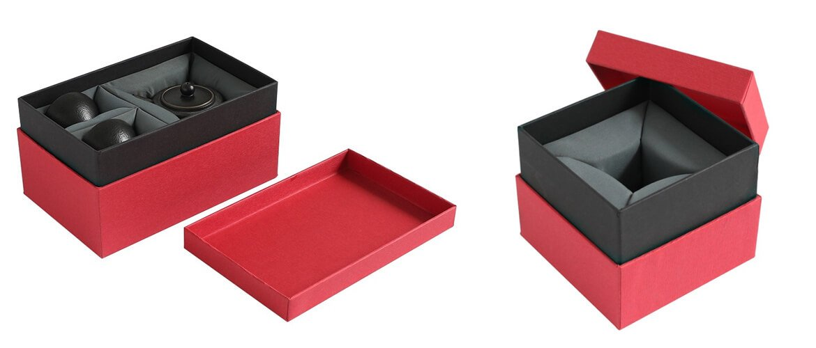 Classic telescope box with velvet foam insert for china product packing